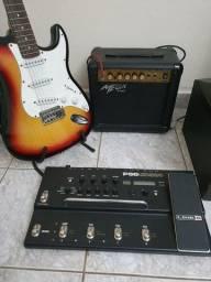 Kit Guitarra Pedaleira e Ampli