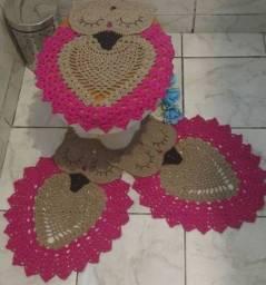 Kit tapete para banheiro 3 peças
