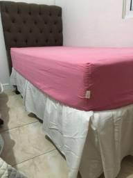 Cama box + colchão solteiro + cabeceira
