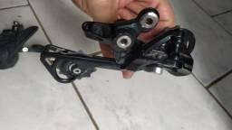 Câmbio Shimano XT 10v cassete XT 11-42 alavanca Shimano slx 10v