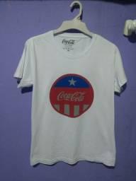 Camisa Coca-Cola M/G Branca