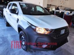 Nova Fiat Strada Endurance 1.4 Fire Cabine Dupla Lançamento 2021 Flex 4 Portas 5 Lugares
