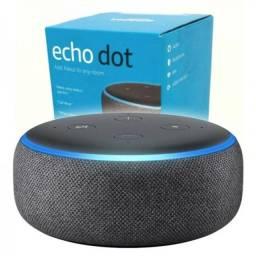Título do anúncio: Echo Dot (3ª Geração): Smart Speaker com Alexa - Cor Preta