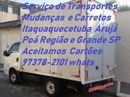 Transporte Frete e Mudanças 97378.2101 whats Itaquaquecetuba e Grande SP