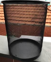 Lixeira Metal Aramado telada 12 litros