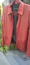 Título do anúncio: Jaqueta de Couro Mercatto, tamanho P.