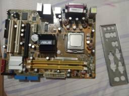 Placa mãe com processador core 2 duo E7500