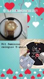 Kit T-shirt + Relógio