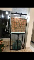 Aquário vidro curvo