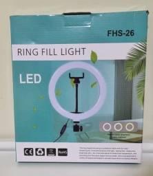 Ringlight com suporte para celular