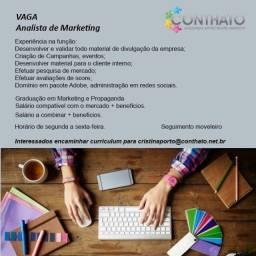 Título do anúncio: Analista  de Marketing