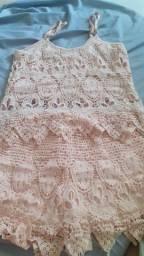 Conjunto de short saia e blusa