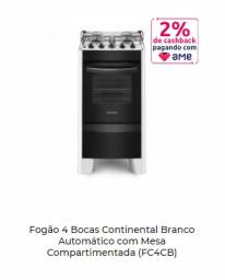 Título do anúncio: Fogão 4 Bocas Electrolux Branco Automático com Timer Digital e Forno de 70L