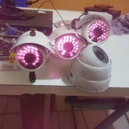 DVR Kit com 16 canais + 5 câmeras no ponto de instalar.