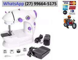 Mini Maquina Costura Elétrica Portátil Roupa Bivolt C/ Pedal