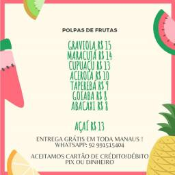 Polpas de Frutas e Açaí!