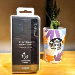 Título do anúncio: Capa protetora Samsung Galaxy S21 - Smart Clear View - Preta