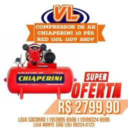 Título do anúncio: Compressor de ar chiaperini 10 pes