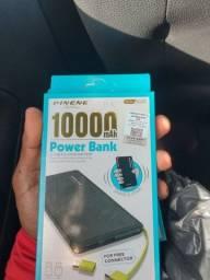 Carregador portátil Power bank 10.000 miliamperes
