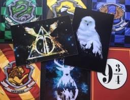 8 Placas Harry Potter De Plástico Duro Impressão Uv