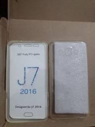 Capinha com película de vidro para display Samsung Galaxy J2 J5 J7