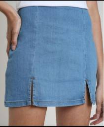 Saia Jeans Feminina 46 Nova