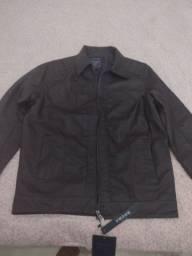 Título do anúncio: Jaqueta masculina de couro legítimo resistente a chama