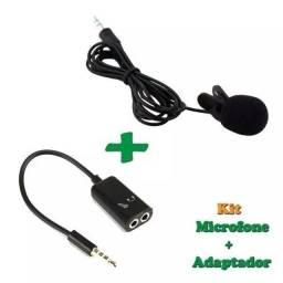MICROFONE DE LAPELA + ADAPTADOR P3( APENAS 25,00)