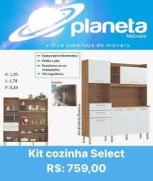 Kit d armário Select p/cozinha frete grátis