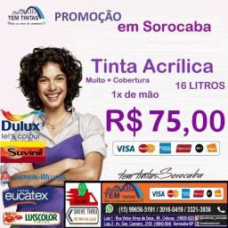 -Promoção Relâmpago - Tinta Acrílica de 16 L- Cobre 1x de mão - De: R$95,00 por 75,00
