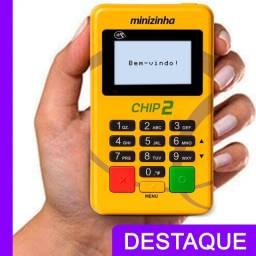 Maquineta Minizinha Chip 2 NFC Sem Celular