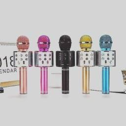 Título do anúncio: Microfone Bluetooth Sem Fio Para Youtuber Reporter Karaoke