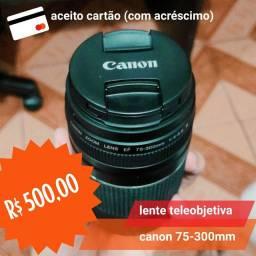 lente teleobjetiva canon 75-300mm