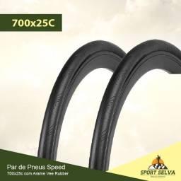 Par de Pneus 700x25c para bicicleta Speed ou Fixa