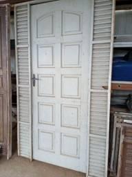 Porta de 80cm usadas completa fechadura dobradiças