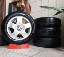 """Rodas 14"""" originais VW FOX + Pneus 175/70/r14"""