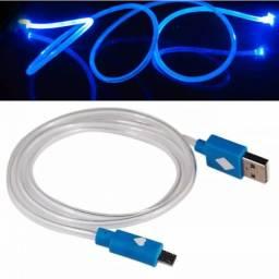 (WhatsApp) cabo micro usb v8 c/ led luminoso