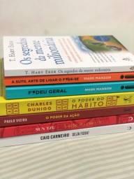 Livro de auto ajuda, livro de inscestimentos, livros de educação financeira