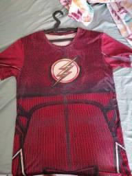 Título do anúncio: Camisas do flash com pinturas em 3D frente e traz