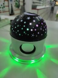 Produto novo. Projetor rotativo teto estrelado com Bluetooth r$136,00, ENTREGO