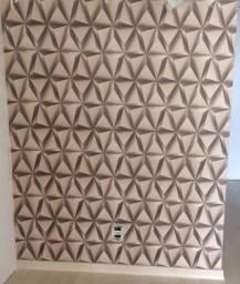VD Barato - Lindo papel de parede 3D marrom importado lavável .