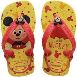 Chinelo Havaianas (infantil) Baby Disney Classic 20 Amarelo