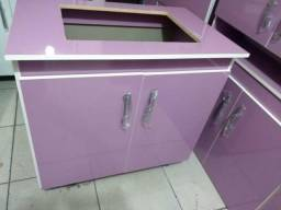 Balcão cooktop montado novo lilas