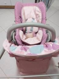 Carrinho de menina e bebê conforto