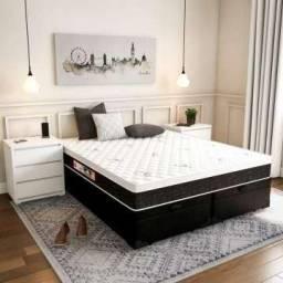 Título do anúncio: Conjunto cama baú e colchão D45 Queen / King size 12 x R$ 198.00