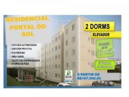 Apartamento para venda em suzano, vila nova amorim, 2 dormitórios, 1 banheiro, 1 vaga