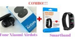 Combo!!! Fone Xiaomi AirDots + Smartband