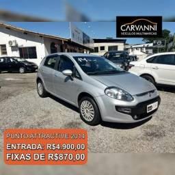 Fiat Punto Attractive 1.4 - Completo - Único dono - 2014
