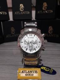 b36981e7bb5 Relogio Masculino Atlantis Original Social Luxo + Caixa