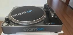 Toca discos Stant On T62 + coleção de discos